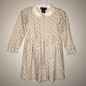 Ralph Lauren Cream Floral Knit Pocket Dress 18-24